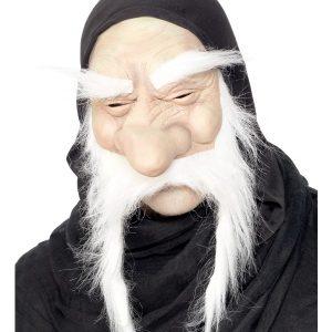 Masque vieux demi visage