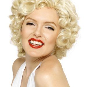 Perruque blond platine Marilyn