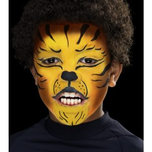 Set maquillage enfant tigre jaune marron noir