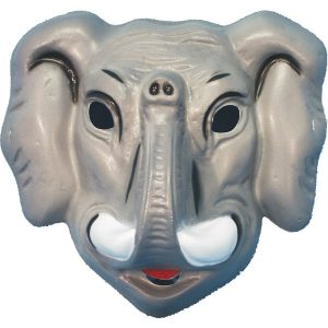 masque animaux elephant plastique