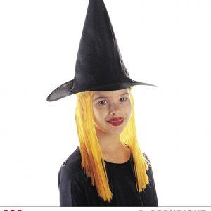 Chapeau sorciere cheveux oranges