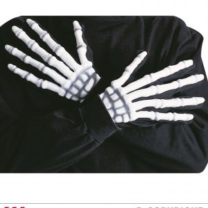 Gants squelette phosphorescents