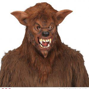 Masque loup fourrure