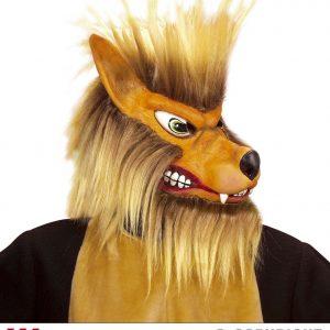 Masque loup poil peluche