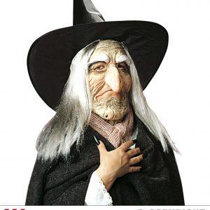 Masque sorcière avec chapeau 01