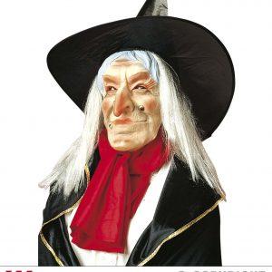 Masque sorcière avec chapeau 02