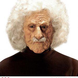 Masque vieil Albert avec perruque et moustache