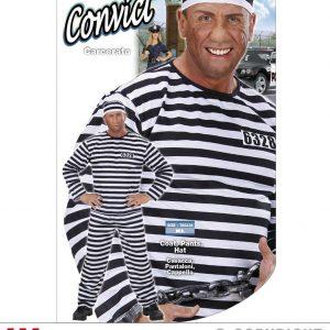 Costume Prisonnier rayé noir et blanc