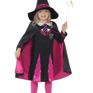Petite sorcière en rose et noire