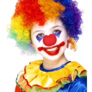 Perruque enfant clown multicolore