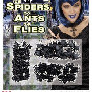 Set 50 fourmis, 25 araignees, 25 mouches