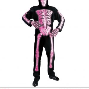 Squelette neon 3D rose