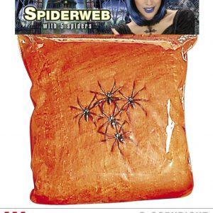Toile araignee orange