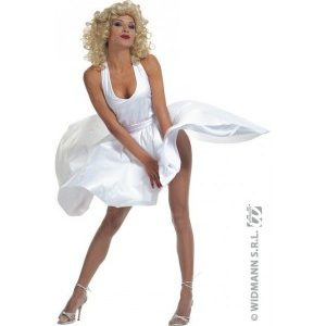 Disco robe blanche style Marylin