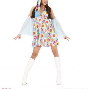 Déguisement femme 70's robe courte fleurie