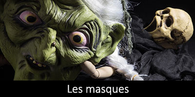 Masques loups Halloween