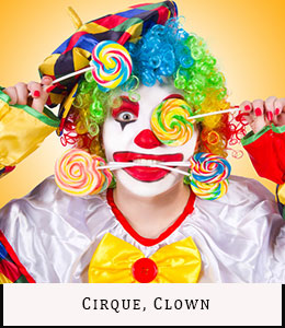 Vente location déguisements Paris Cirque Clown
