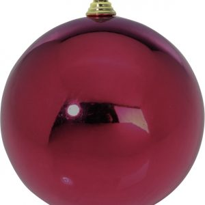 BOULE PLASTIQUE 140MM UNIE BRILLANT BORDEAUX