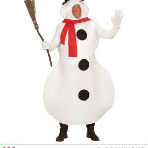 Bonhomme de neige écharpe rouge
