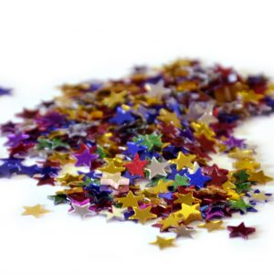 CONFETTIS DE TABLE ETOILES MULTI 5MM 14 G
