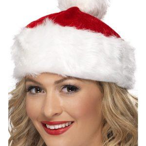 Chapeau de noël rouge et blanc