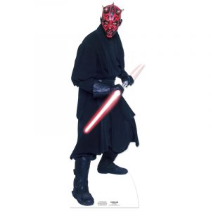 FIGURINE GÉANTE CARTON DARTH MAUL © STAR WARS 185 X 67 CM