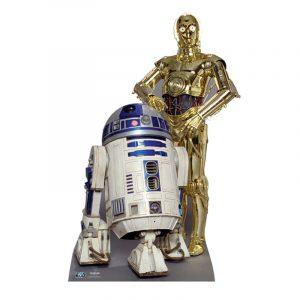 FIGURINE GÉANTE CARTON R2-D2 ET C3P-O ©STAR WARS 166CM