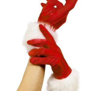 Gants rouges et blancs