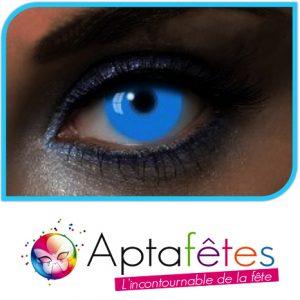 LENTILLES COULEUR GLOW UV BLUE - DUREE 1 AN