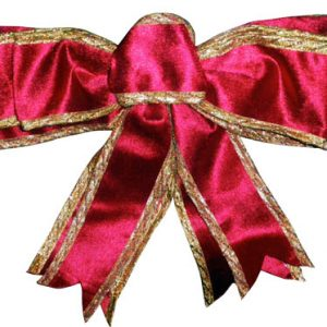 NOEUD A BOUCLES VELOURS ROUGEOR 35X60 CM