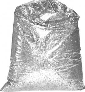 PAILLETTES FINES 0.4 MM DECORATION SACHET 1 KG ARGENT