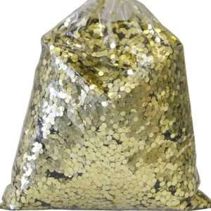 PAILLETTES GROSSES 2 MM DECORATION SACHET 1 KG GOLD