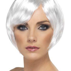 Perruque blanche courte