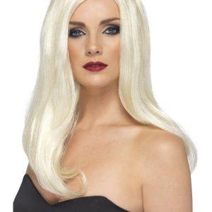 Perruque blonde sans frange