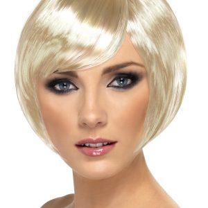 Perruque courte blonde
