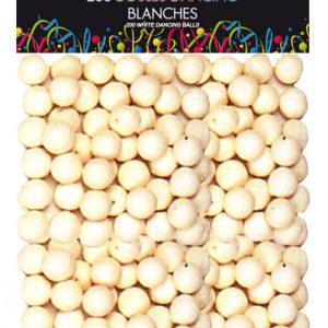 SACHET DE 200 BOULES DANCING BLANCHE IMPORT