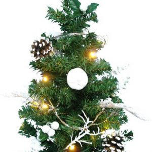 SAPIN DECO DE TABLE FIBRE OPTIQUE 60cm 15 lLEDS BLANCS FIXE INT