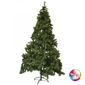 SAPIN NOEL 240 CM - 1320 TIPS - SUPPORT METAL FLAMME RETARDANTE