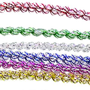 SET DE 2 GUIRLANDES SPIRALE 1.6 M - 6 COULEURS ASSORTIES