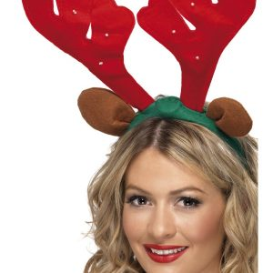 Serre tête renne rouge Noël