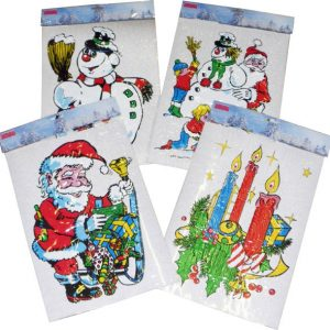 VITROSTATIQUE DE NOEL MULTICOLORE 25X35 CM ASSORTI