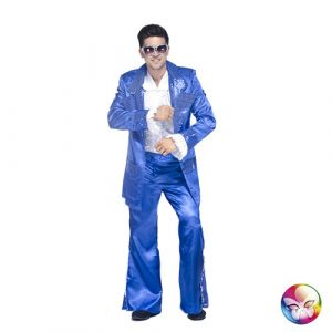 Costume disco king bleu