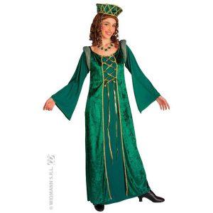 Costume Eléonore velour vert et or