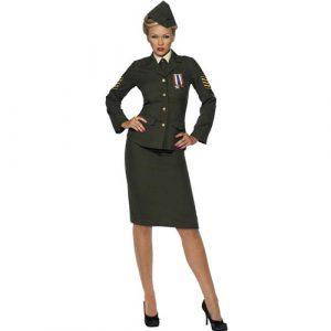 Costume femme officier de guerre kaki