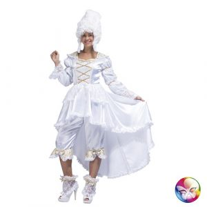 Costume marquise baroque en blanc