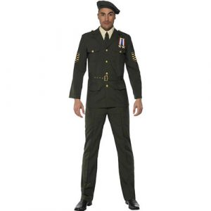 Costume officier de guerre kaki