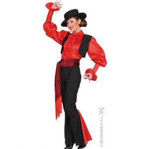 Costume pantalon espagnole rouge et noir
