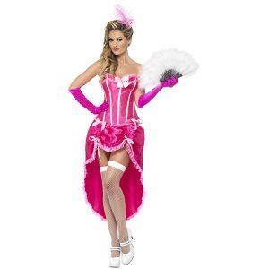 Danseuse burlesque rose et blanc