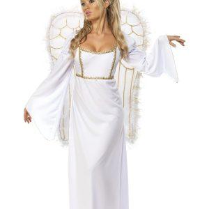 Déguisement ange femme grandes ailes de face