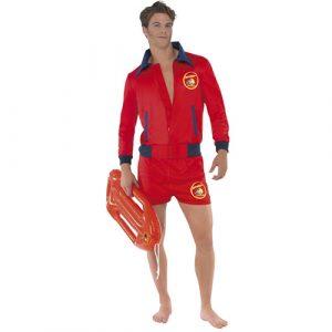 Déguisement baywatch homme top et short rouge